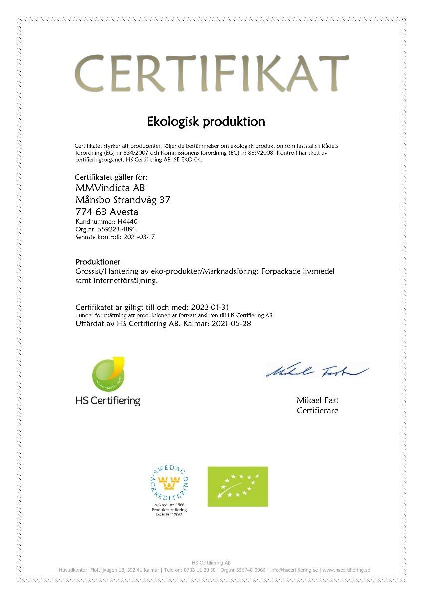 Ekologisk certifiering