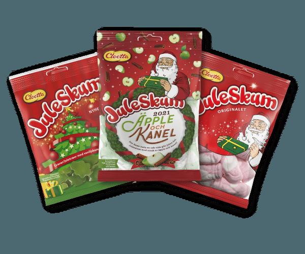 Svenska julprodukter - Med årets smak av Juleskum, Äpple och kanel
